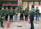 重庆沙坪坝消防演练宣传活动定制的迷彩服套装